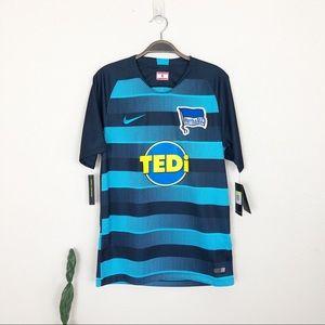 •NIKE•Dri-Fit Hertha BSC Tedi Soccer Futbal Jersey